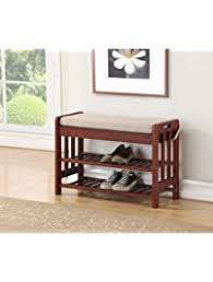 Entry Bench With Shoe Storage Storage Benches Amazon Com