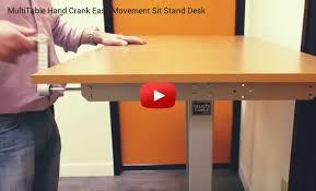 pittsburgh crank sit stand desk multitable hand crank height adjustable desk with large white desk