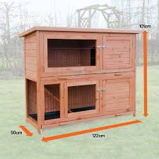 6 Rabbit Hutch 4ft Milan Double Rabbit Hutch With Enclosed Run U0026 Cover