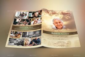 unique funeral programs 20 modern and professional free psd funeral program templates