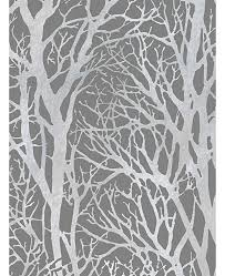 branches wallpaper dark grey and silver as creation 30094 3