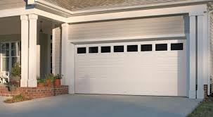 Dulle Overhead Doors Garage Door Traditional Panel With Clear Windows White