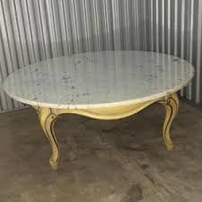 vintage marble coffee table vintage french provincial 40 round marble top coffee table made in