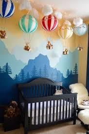 heißluftballon kinderzimmer wolke heißluftballons sonne und vögel als motive toll