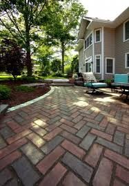 Unilock Michigan Patio By Unilock With Town Hall Paver And Brussels Block Border
