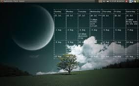 agenda sur bureau afficher le calendrier sur votre bureau linux tux planet