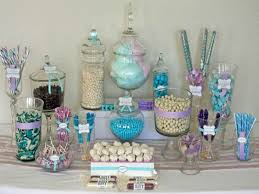 baby shower candy table for silver christmas centerpieces candy baby shower decorations boy