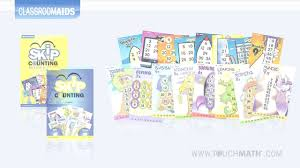 touchmath skip counting poster u0026 cd sets youtube