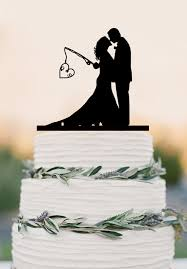 fishing wedding cake toppers custom wedding cake topper hooked on personalized topper