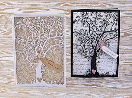 wedding invitations laser cut laser cut tree wedding invitations marialonghi