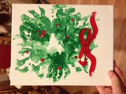 handprint wreath baby u0027s first christmas crafts pinterest