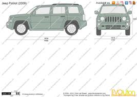 white jeep patriot 2008 the blueprints com vector drawing jeep patriot