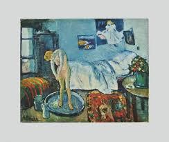 la chambre bleue picasso la chambre bleue sur papier artisanal reproduction pour