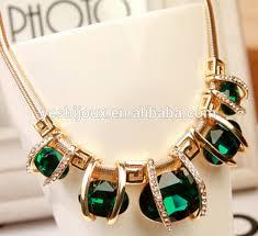 crystal diamond necklace images Elliptical crystal diamond necklace big stone chunky jewelry buy jpg
