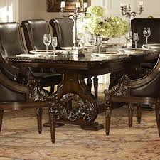 homelegance orleans double pedestal dining table in rich dark