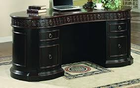 coaster oval shaped executive desk britannia rose office oval executive desk in two tone from coaster