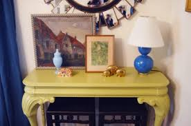 Yellow Console Table 47 Console Table Decor Ideas Shelterness