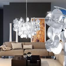 Wohnzimmer Decken Lampen Design Hänge Decken Lampe Wohnzimmer Leuchte E27 Rund Blätter