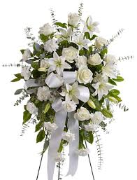 sympathy flowers serenity sympathy flowers spray at 1 800florals flower delivery