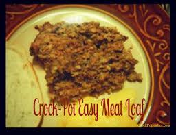 crock pot easy meatloaf