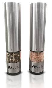 electric salt pepper mill grinder with light amazon com 1 automatic salt and pepper grinder set best electric
