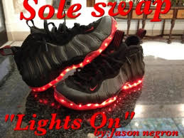 shoes that light up on the bottom nike up nike air foosite custom shoes by sole swap