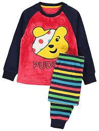 children in need pudsey fleece pyjamas george