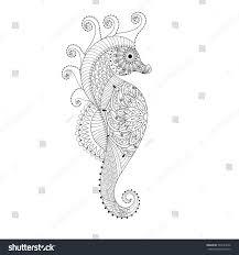 sea horse hand drawn sea horse stock vector 364183346 shutterstock