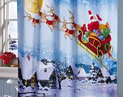 Santa Curtains Shower 1000 Images About Here Comes Santa Claus On Pinterest