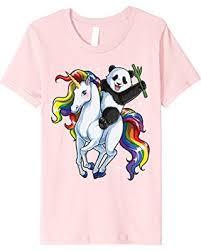 Unicorn Rainbow Meme - don t miss this bargain kids panda riding unicorn t shirt funny
