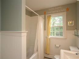 Tiled Wall Boards Bathrooms - cottage full bathroom with undermount sink u0026 wainscoting in