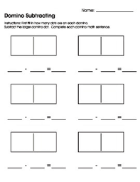 domino subtracting worksheet printable by mary heishman tpt