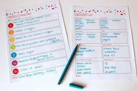 11 meal planning templates that will make dinner time easier