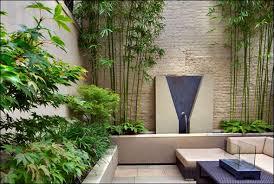 Bamboo Garden Design Ideas Small Contemporary Courtyard Garden Cascadas Pinterest Small