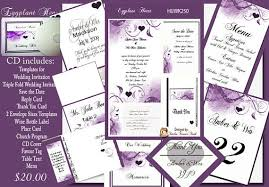 purple wedding invitation kits delux eggplant and purple wedding invitation kit on cd