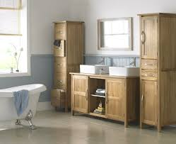 Bathroom Furniture Oak Classic Oak Bathroom Cabinets Sink With Framed Mirror