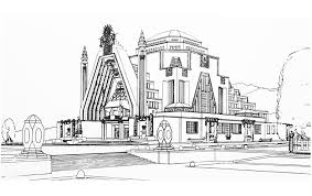 drawing monument art deco france 1925 architecture and living