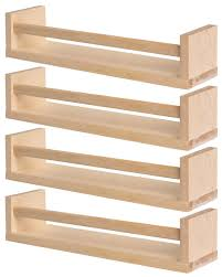 ikea 4 wooden spice rack nursery book holder kids shelf