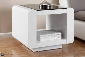 White Bedroom Bedside Cabinets Furnitures Interesting Modern White Bedroom Decoration Using