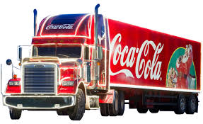 coca cola christmas truck transparent background