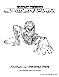 amazing spidey climbing coloring pages hellokids