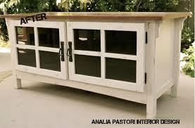 antique white tv cabinet distressed antique white tv stand by analia pastori interior design