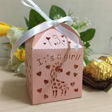 girl baby shower favors online shop 50pcs laser cut giraffe it s a girl baby shower favors