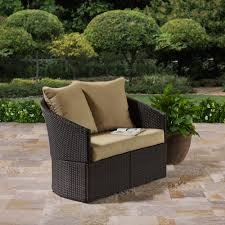 Wicker Settee Replacement Cushions by Better Homes And Gardens Cascade Falls Curved Loveseat Brown