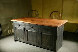 Barnwood Kitchen Cabinets Hand Crafted Rustic Barn Wood Kitchen Island By Ecustomfinishes