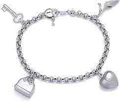 white gold bracelet with charm images Get the best of both worlds with white gold charm bracelet jpg