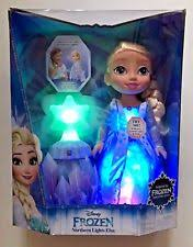 disney frozen northern lights elsa music and light up dress disney frozen northern lights elsa doll 40 phrases ebay