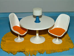 Dollhouse Dining Room Furniture by Ggsdolls Modella 1960s Dining Room Set