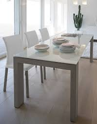 Dining Room Glass Tables Contemporary Dining Table Glass Lacquered Wood Rectangular