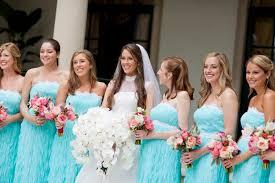 strapless tiffany blue and white bridesmaids dresses elizabeth